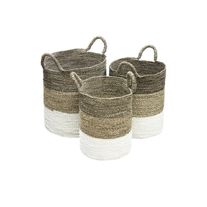 Seagrass Baskets Grey (Set of 3) - Baskets