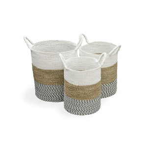 Seagrass Baskets White (Set of 3) - Baskets