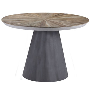 Shoreditch Elm and Concrete Round Dining Table - Dining Table