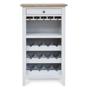 Signature Grey Wine Rack Storage Cabinet - Drink Cabinet