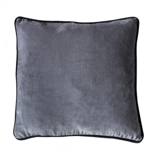 Silver Grey Velvet Cushion - Cushion