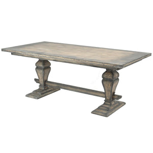 Snowden Distressed Mindi Wood Dining Table - Dining Table