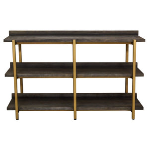 Solent Black & Gold Shelving Unit - Shelving Unit