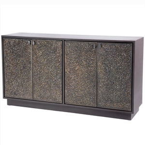 Stanton Mango Wood and Textured Brass Sideboard - sideboard
