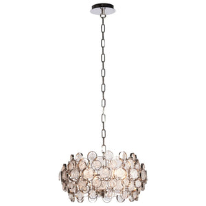 Storma 4-Light Silver & Glass Medallions Pendant - Pendant Light