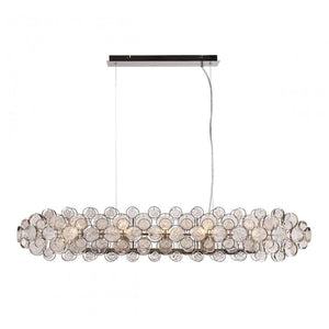 Storma 8-Light Silver & Glass Medallions Pendant - Pendant Light