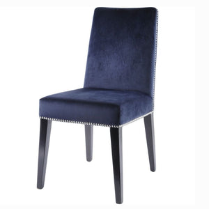 Tate Blue Velvet Studded Dining Chairs (Set of 2) - Dining Chairs