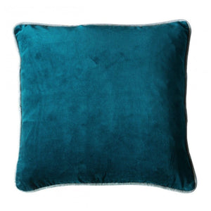 Teal Velvet Cushion - Cushion