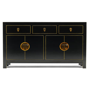 The Nine Schools Qing Black and Gilt Large Sideboard - sideboard