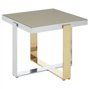 Turia Stainless Steel and Gold Side Table - side table