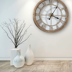 Weathered Wood Cut Out Clock - Wall Clock