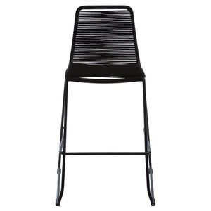 Xander Black Rope Bar Stool (Set of 2) - Bar Stool