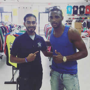 SUPER WELTERWEIGHT CHAMPION  ErisLandy Lara in the building! World's #1 Super Welterweight Champion