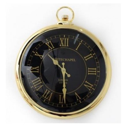 Round Gold Pocket Watch Wall Clock