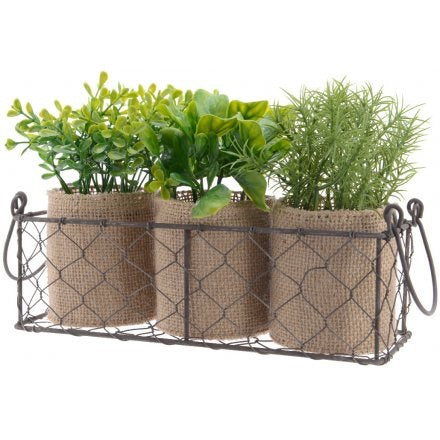 Artificial Potted Herb Tray