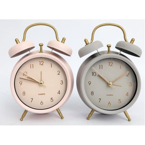 Chic Pastel & Gold Alarm Clock