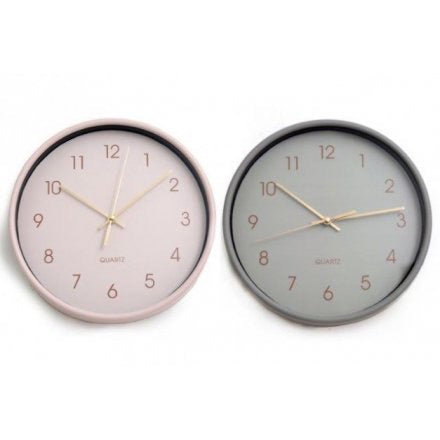 Chic Pastel Round Wall Clock