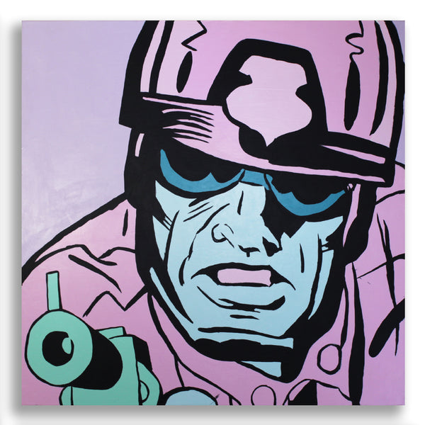 Snack Braff 'Aggressor!' Painting - Beautiful Comic Style Painting