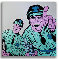 Snack Braff 'Aggressor!' Painting - Beautiful Comic Wall Canvas Online
