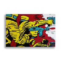 Snack Braff 'Blast!' Painting - Comic Style Wall Canvas For Decoration