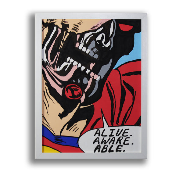 Snack Braff 'Alive' Painting - Beautiful Comic Wall Canvas Online