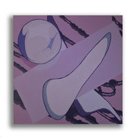 Snack Braff 'Where Does This End' Painting- Purple - Wall Canvas