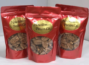Cinnamon Sugar Pecans in Red Gift Bag, 1/3 lb