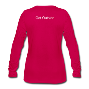 Superior Shoppe Women's Premium Long Sleeve T-Shirt - dark pink