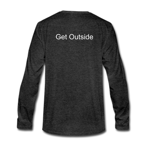 Superior Shoppe Men's Premium Long Sleeve T-Shirt - charcoal gray