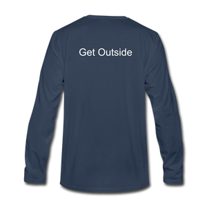 Superior Shoppe Men's Premium Long Sleeve T-Shirt - navy