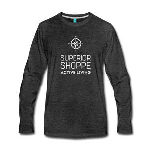 Men's Premium Long Sleeve T-Shirt - charcoal gray