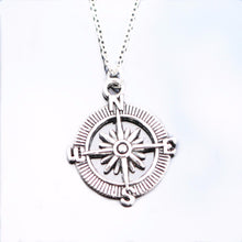 Load image into Gallery viewer, Silver Plated Compass Necklace