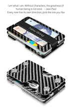 Load image into Gallery viewer, NewBring Carbon Fiber Credit Card Holder and Key Organizer With RFID Blocking Wallet