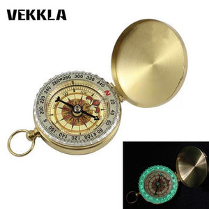 Vintage Brass Compass with Noctilucence Display