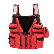 Load image into Gallery viewer, Fishing and Kayaking Life Vest with Backpack
