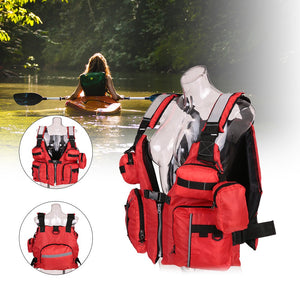 Fishing and Kayaking Life Vest with Backpack