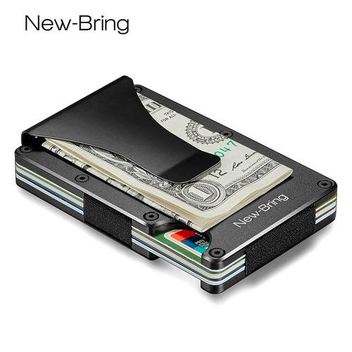 Metal Mini RFID Blocking Money Clip Credit Card Holder