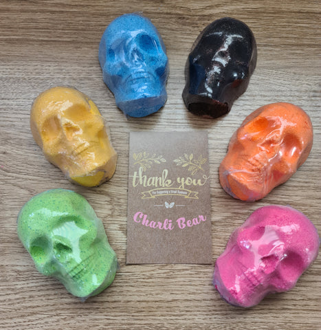 Bag of Mini Skull Bath Bombs