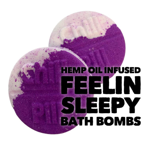 Hemp Oil Bath Bomb - Feeling Sleepy