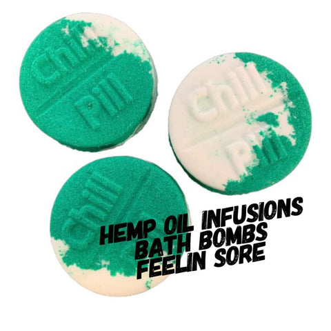 Hemp Oil Bath Bomb - Feeling Sore