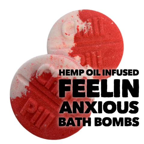 Hemp Oil Bath Bomb - Feeling Anxious