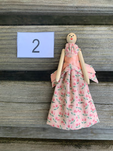 "Handmade ""Dolly"" Clothespin Doll"