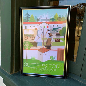 "Sutter's Fort Graphic Poster 11""x 17"""