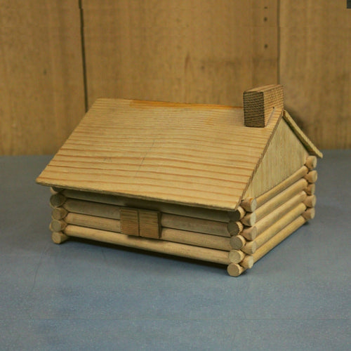 Wood Log Cabin Model Kit