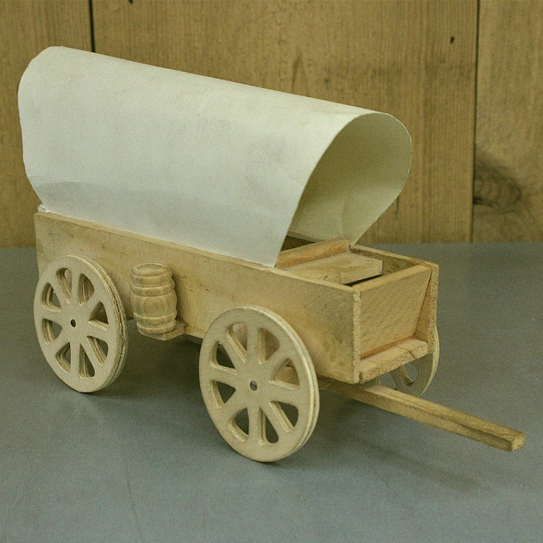 Wood Covered Wagon Model Kit