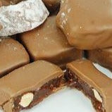 Chocolate Coated Turkish Delight with Almonds