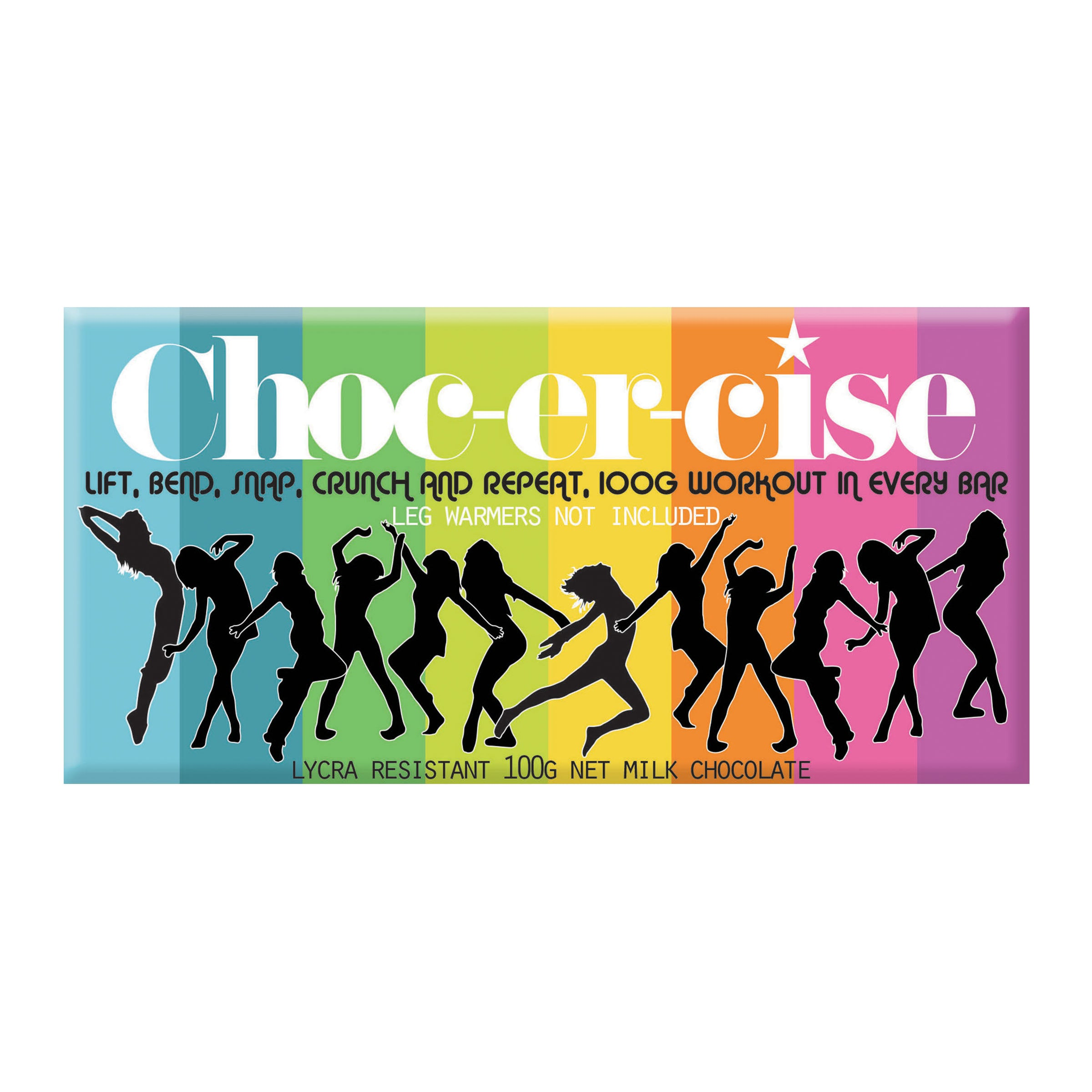 Choc-er-cise Milk Chocolate Block