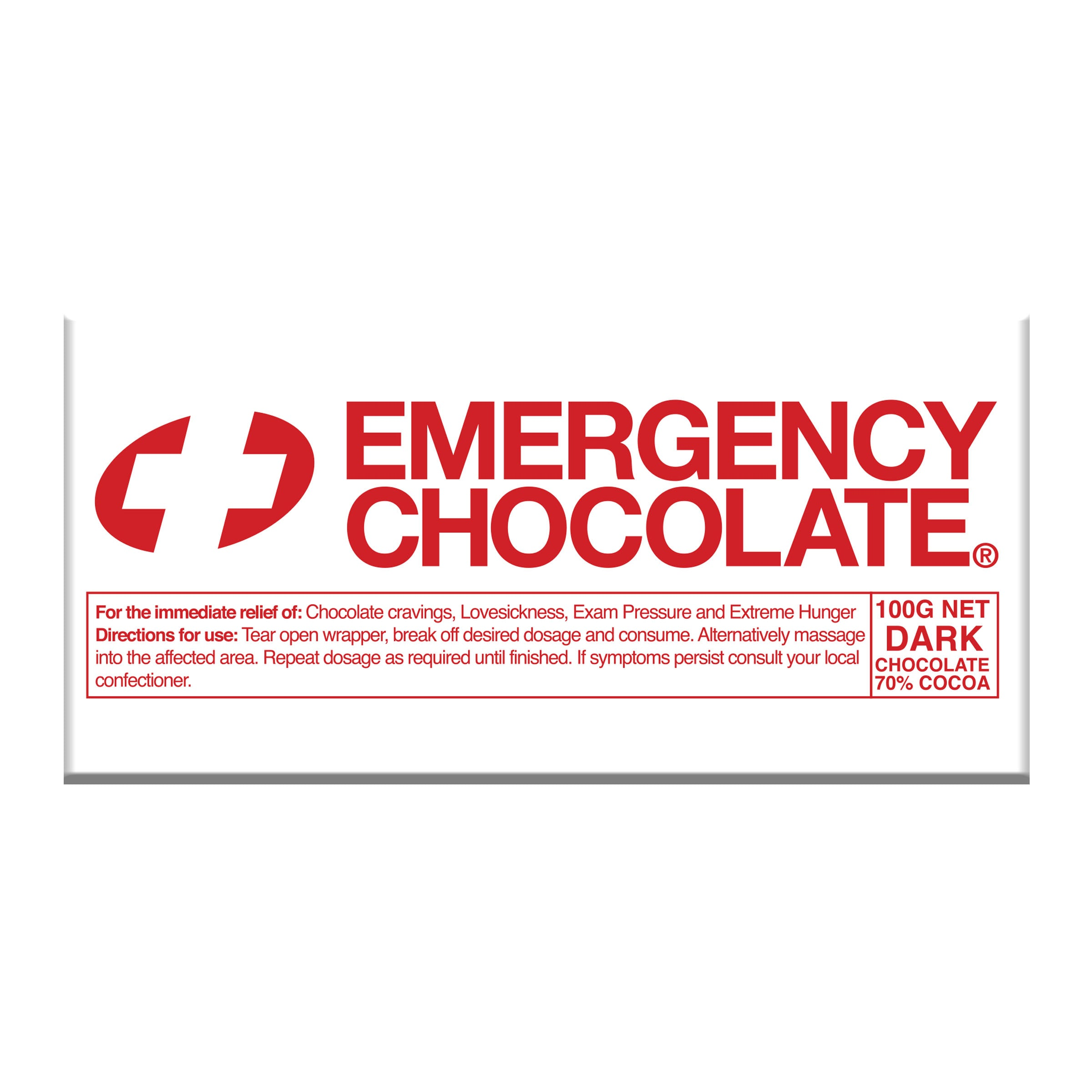 Emergency Dark Chocolate Block