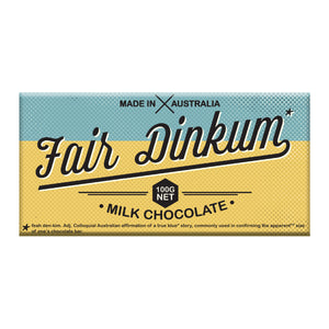 Fair Dinkum Milk Chocolate Block