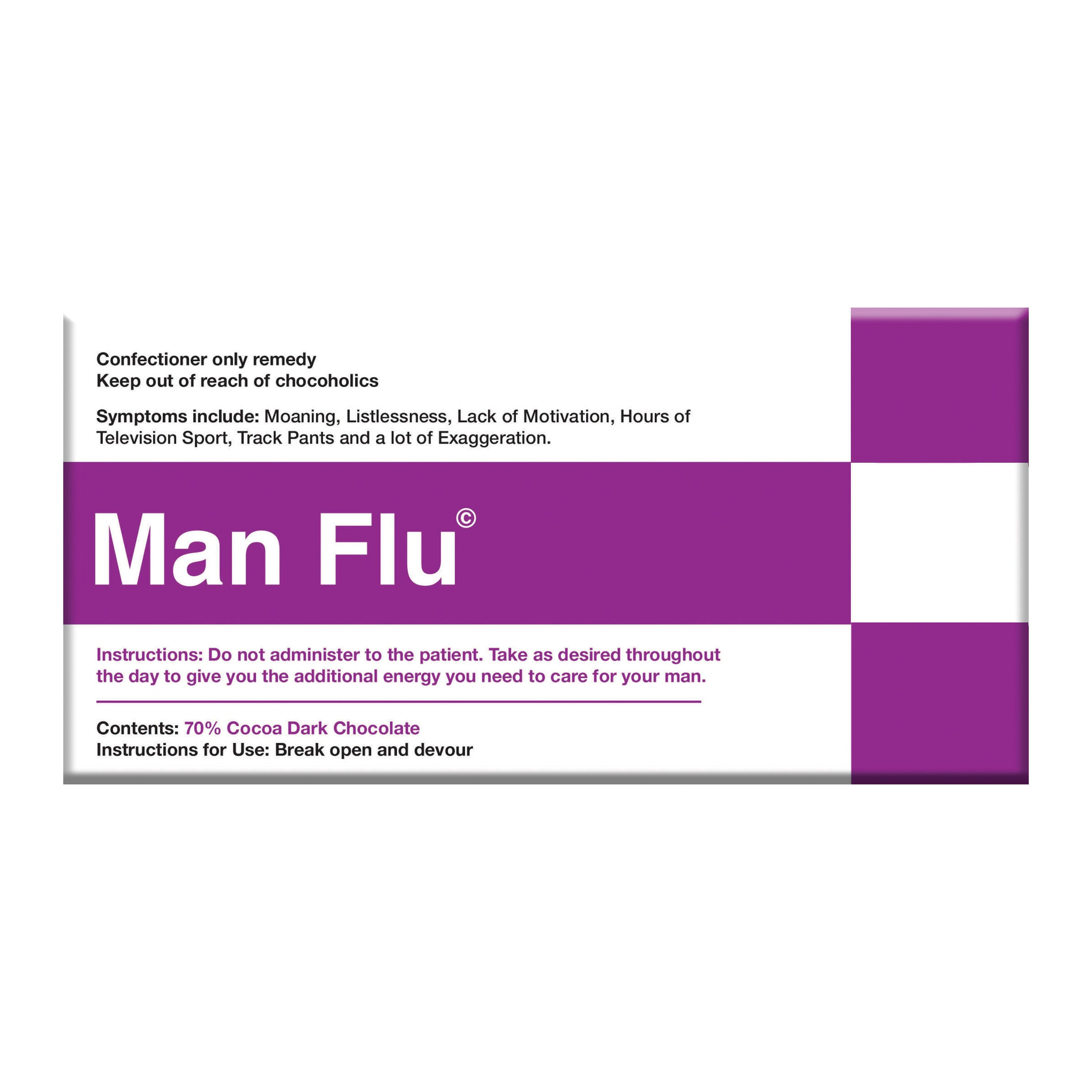 Man Flu Dark Chocolate Block